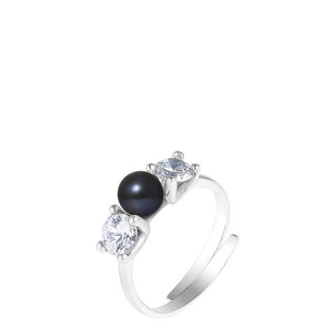 Mitzuko Black Tahiti Style Silver Pearl Ring