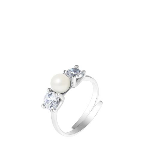 Mitzuko Natural White Silver Freshwater Pearl Ring