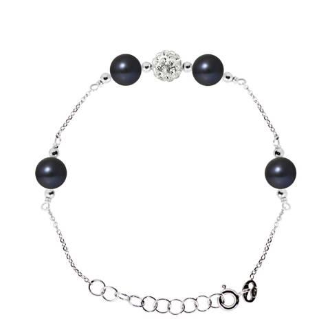 Pearline Black Tahitian Style Silver Pearl Bracelet