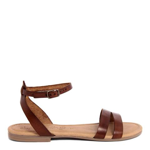 Miss Butterfly Brown Leather Greek Style Sandal