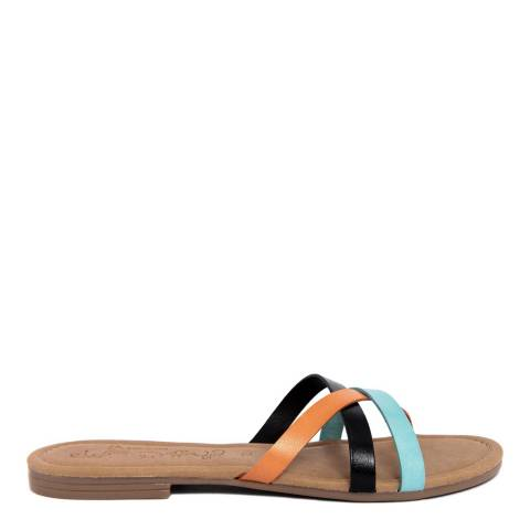 Miss Butterfly Multi Coloured Strappy Leather Sandal