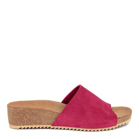 Miss Butterfly Pink Suede Slip On Sandal
