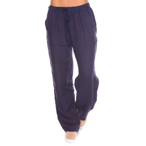 100% Linen Blue Jill Linen Trousers