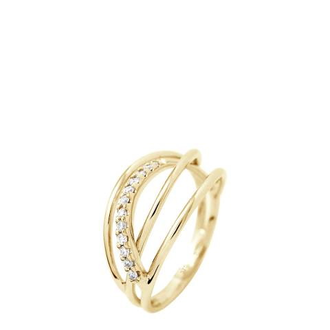 Dyamant Yellow Gold Prestige Diamond Ring 0.18 Cts