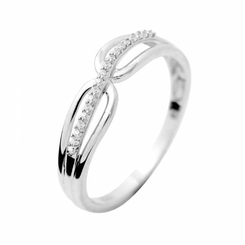 Dyamant White Gold Prestige Diamond Ring 0.03 Cts