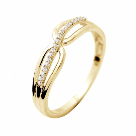Dyamant Yellow Gold Prestige Diamond Ring 0.03 Cts
