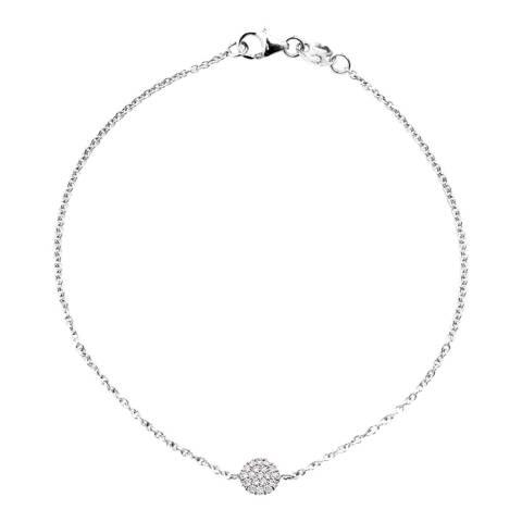 Only You White Gold Diamond Bracelet 0.11 Cts