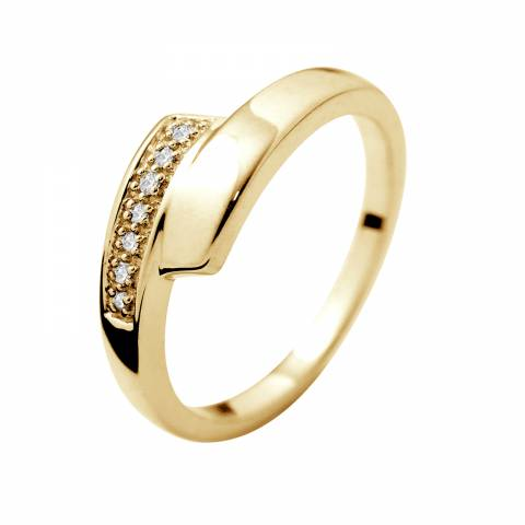 Dyamant Yellow Gold Prestige Diamond Ring 0.01 Cts