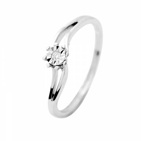 Dyamant White Gold Prestige Diamond Ring 0.015 Cts