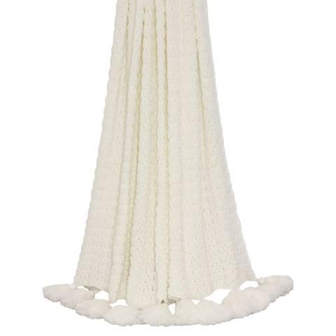 Paoletti White Mina 140x180cm Throw