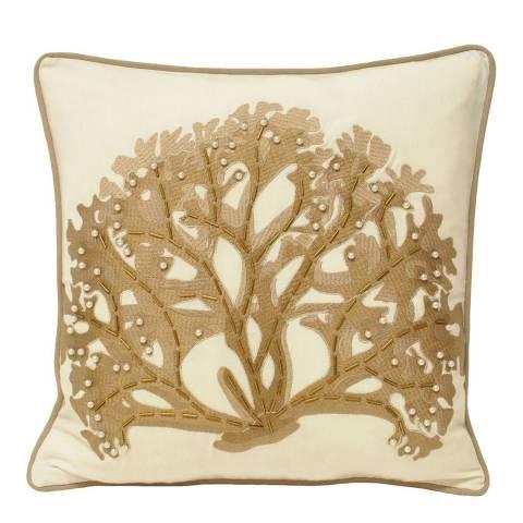 Paoletti Driftwood Ionia Coral Cushion 43x43cm