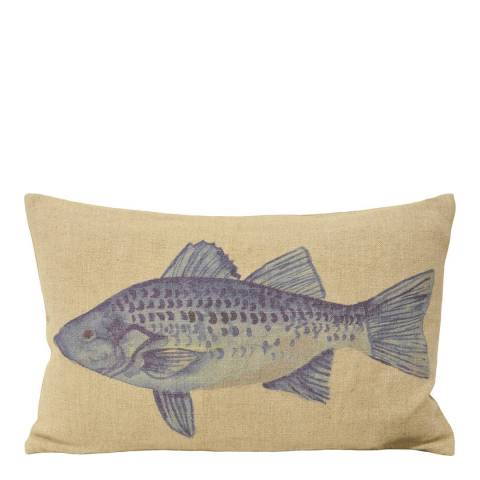 Paoletti Blue Pembroke Cushion 35x50cm