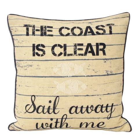 Paoletti Seascape Coast Is Clear 45x45cm Cushion