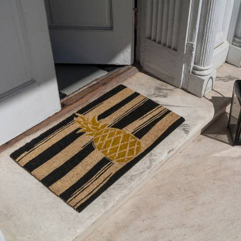 Entryways Yellow Golden Pineapple Non-Slip Doormat 40x60cm
