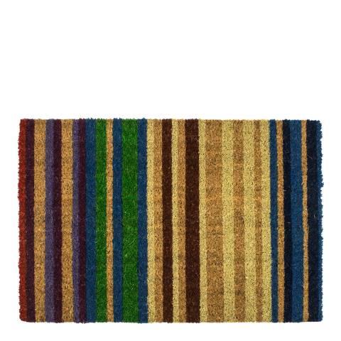 Entryways Multicoloured Rainbow Non-Slip Doormat 40x60cm
