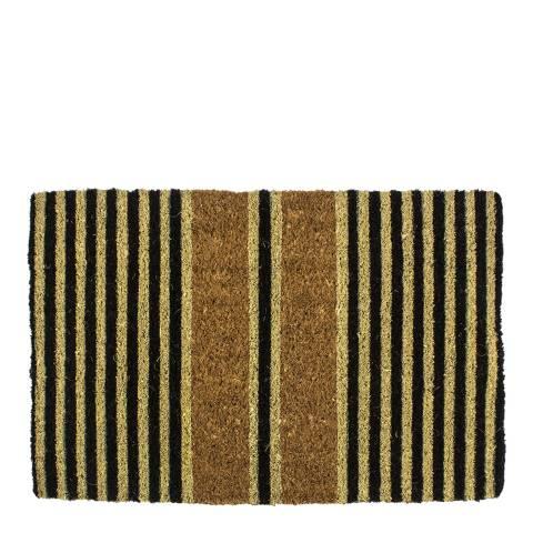 Entryways Brown Ticking Stripes Handwoven Doormat 40x60cm