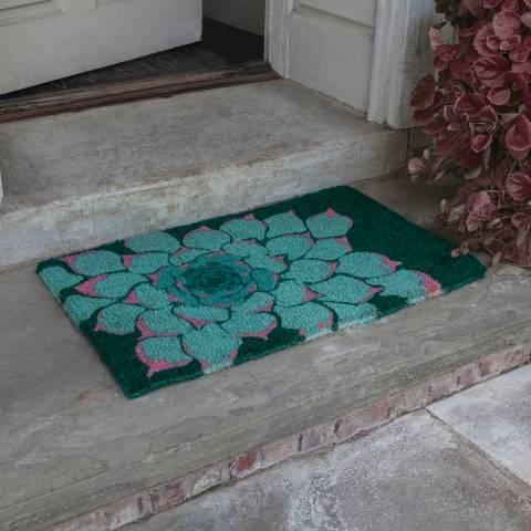 Entryways Green Succulent Handwoven Doormat 40x60cm