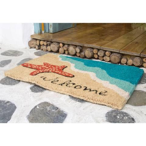 Entryways Starfish Welcome Doormat 40x60cm