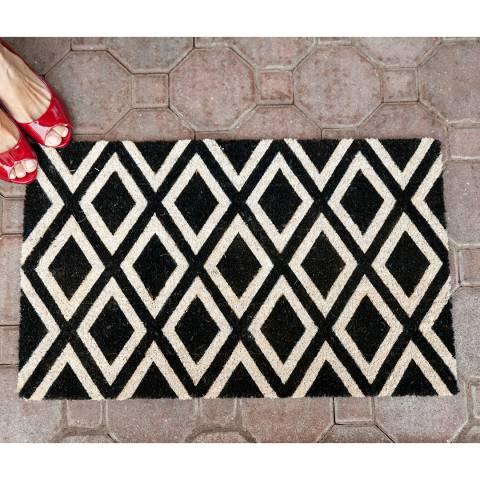 Entryways Black/White Rhombi Non-Slip Doormat 40x60cm