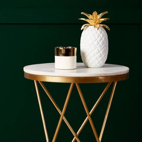 Premier Housewares White/Gold Sena Pineapple Jar