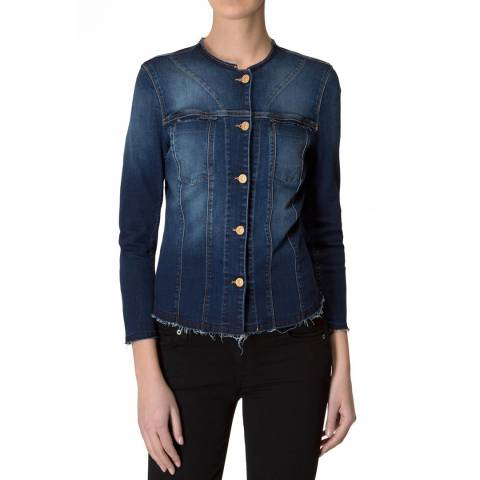 7 For All Mankind Duchess Blue Denim Jacket