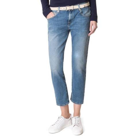 7 For All Mankind Vintage Mid Blue Relaxed Skinny Stretch Jeans