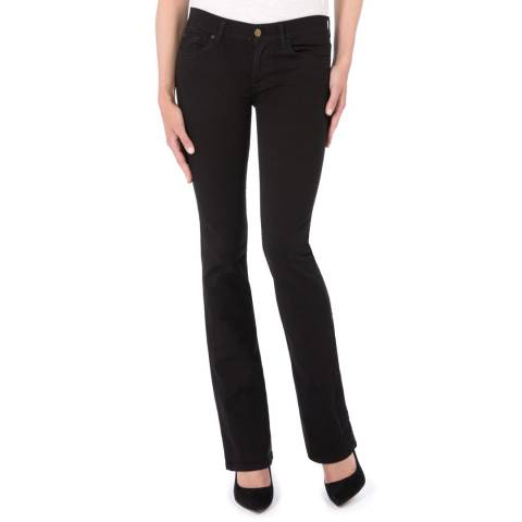 7 For All Mankind Black Skinny Stretch Bootcut Jeans
