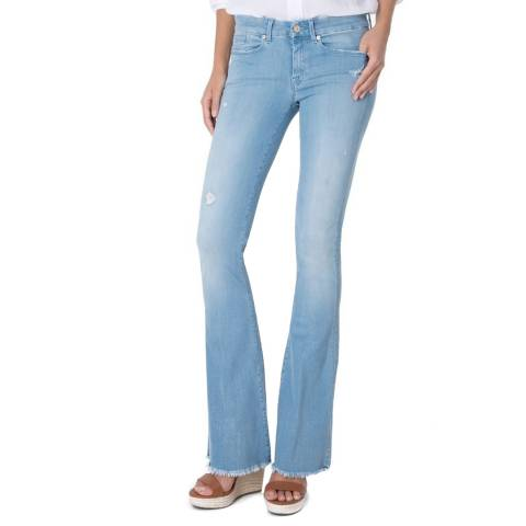 7 For All Mankind Baby Blue Jiselle Bootcut Stretch Jeans