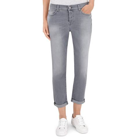 7 For All Mankind Crystal Grey Josefina Stretch Boyfriend Jeans