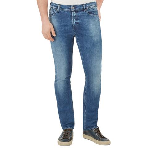 7 For All Mankind Dark Blue Ronnie Stretch Slim Jeans