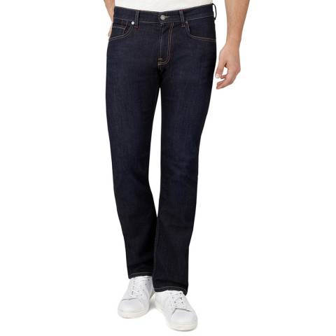 7 For All Mankind Deep Blue Standard Stretch Straight Jeans