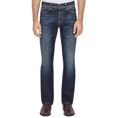 7 For All Mankind Pale Blue Standard Stretch Straight Jeans