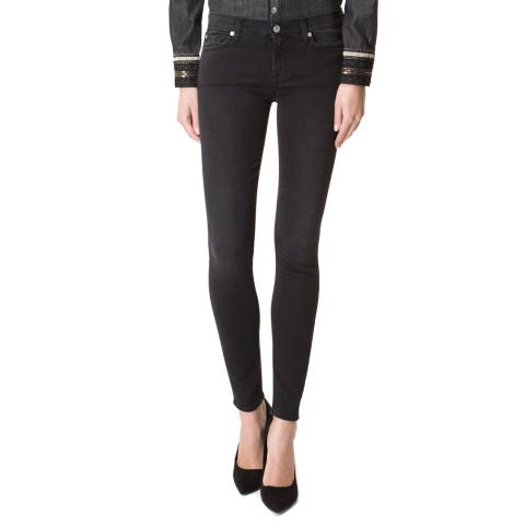 7 For All Mankind Washed Black The Skinny Stretch Jeans