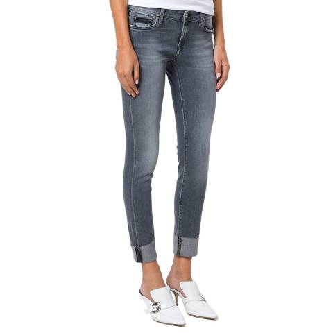 7 For All Mankind Washed Grey Pyper Stretch Slim Jeans