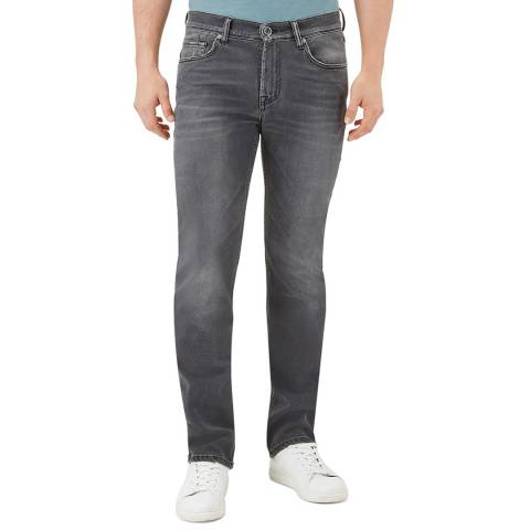 7 For All Mankind Dark Grey Slimmy Stretch Jeans