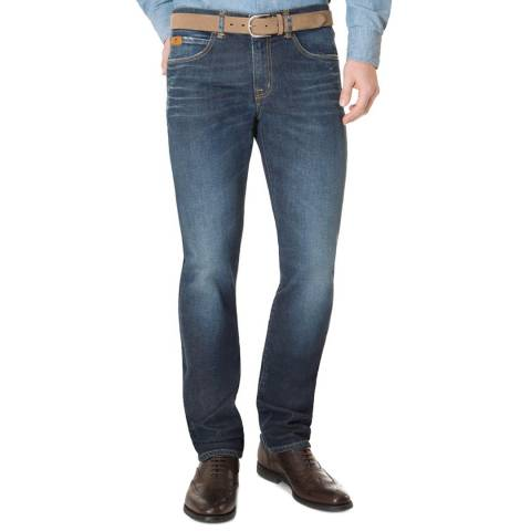 7 For All Mankind Blue Slimmy Stretch Jeans