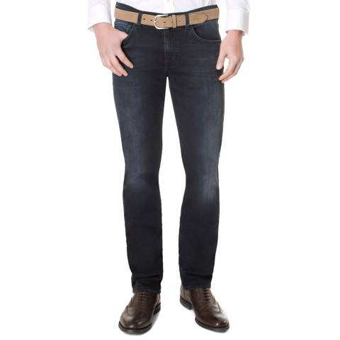 7 For All Mankind Blue Black Slimmy Stretch Jeans