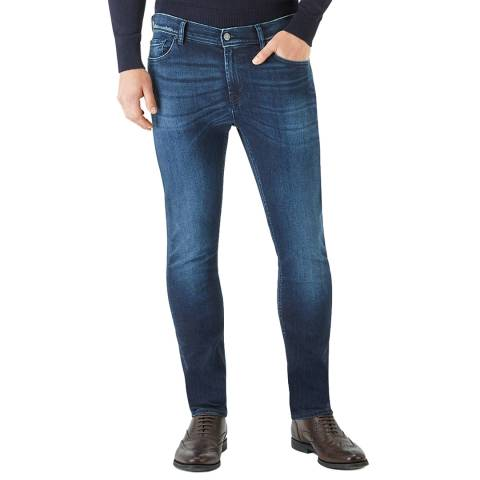 7 For All Mankind Deep Blue Ronnie Stretch Slim Jeans