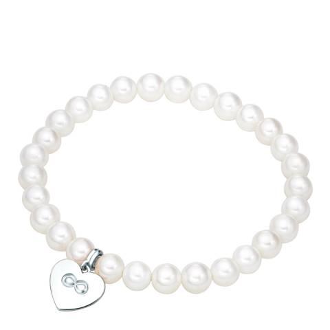 Nova Pearls Copenhagen White/Silver Organic Pearl Bracelet
