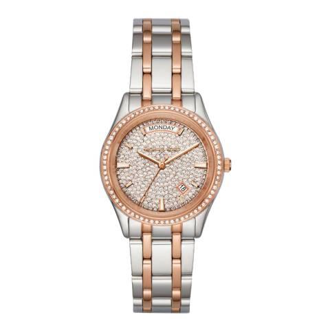 Michael Kors Women's Silver/Rose Gold Kiley Watch