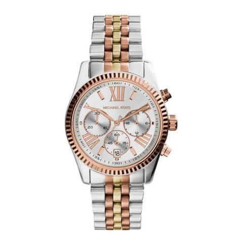 Michael Kors Women's Silver/Gold Lexington Watch