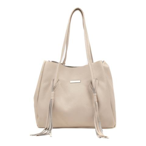 Luisa Vannini Beige Leather Shopper Bag