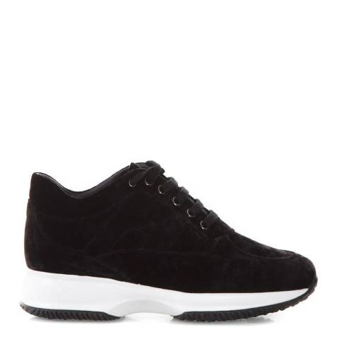 Hogan Women's Black Suede Interactive Trainers