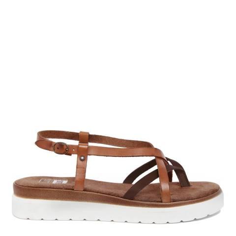 Julie Julie Tonal Brown Multi Strap Chunky Sandal