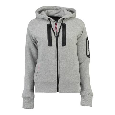 Geographical Norway Women's Light Grey Fabricot Hood Sweater