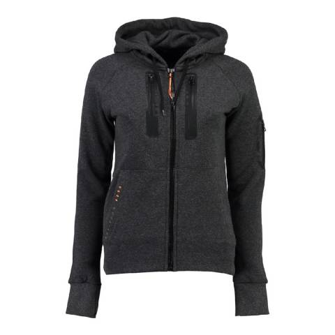 Geographical Norway Women's Dark Grey Fabricot Hood Sweater