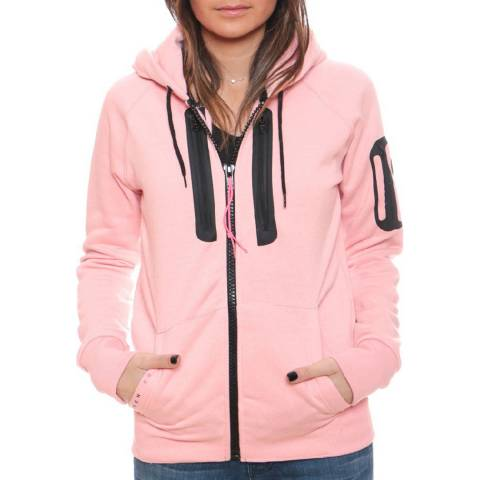 Geographical Norway Women's Light Pink Fabricot Hood Sweater