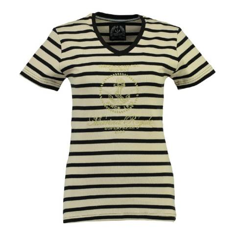Geographical Norway Women's Black/Off White Jardin T-Shirt