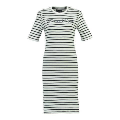 Geographical Norway Women's White/Navy Jimini T-Shirt Dress