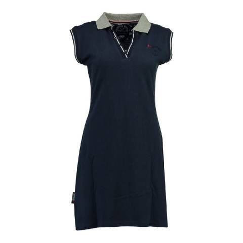 Geographical Norway Women's Navy Kati Short Sleeve Dress